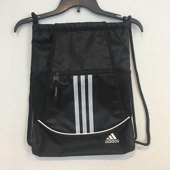 7ec8663bb61c adidas Handbags - Adidas Black and White Drawstring Bag
